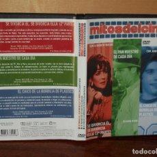 Cine: MITOS DEL CINE: SE DIVORCIA EL,/EL PAN NUESTRO/EL CHICO DE LA BURBUJA - 3 PELICULAS EN 1 DVD. Lote 260570910