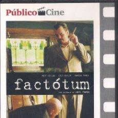 Cine: FACTOTUM. BENT HAMER. DVD PUBLICO 2008. Lote 64333411