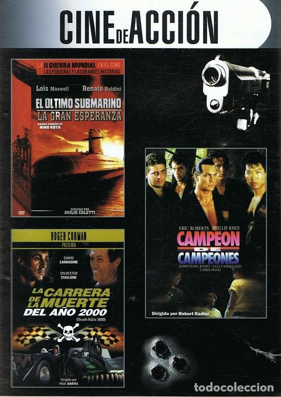 DVD CINE DE ACCIÓN 3 PELÍCULAS (Cine - Películas - DVD)