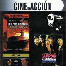 Cine: DVD CINE DE ACCIÓN 3 PELÍCULAS. Lote 64745667