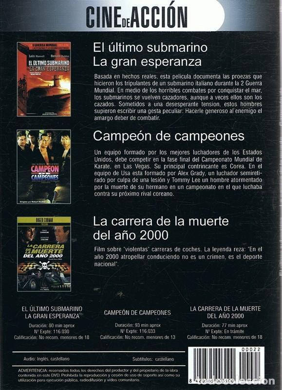 Cine: DVD CINE DE ACCIÓN 3 PELÍCULAS - Foto 2 - 64745667