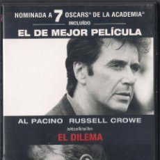 Cine: EL DILEMA (THE INSIDER) - MICHAEL MANN - DVD TOUCHSTONE PICTURES 2001. Lote 65015531