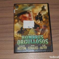 Cine: HOMBRES ORGULLOSOS DVD CHARLTON HESTON PETER STRAUSS NUEVA PRECINTADA. Lote 269695733