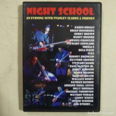 Cine: NIGHT SCHOOL - AN EVENING WITH STANLEY CHARKE & FRIENDS - DVD 2007. Lote 65700758