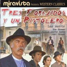 Cine: DVD TRES FORAJIDOS Y UN PISTOLERO LEE MARVIN . Lote 65921082