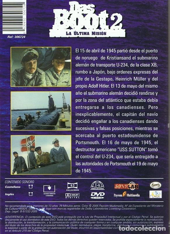 Cine: DVD DAS BOOT 2 LA ÚLTIMA MISIÓN - Foto 2 - 65925186