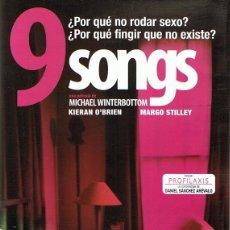 Cine: DVD 9 SONGS . Lote 65937754