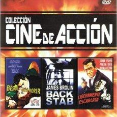Cine: DVD CINE DE ACCIÓN 3 PELÍCULAS. Lote 66811234