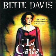 Cine: DVD LA CARTA BETTE DAVIS. Lote 66858138