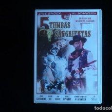 Cine: 5 TUMBAS SANGRIENTAS (DVD NUEVO PRECINTADO ). Lote 67064934