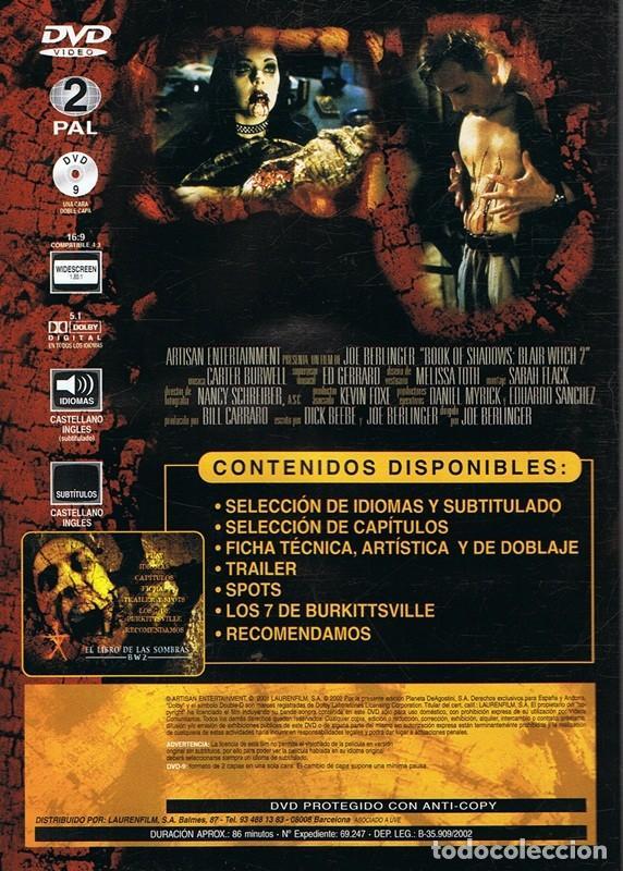 Cine: DVD EL LIBRO DE LAS SOMBRAS B W 2 - Foto 2 - 67460201