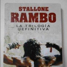 Cine: RAMBO. STALLONE. LA TRILOGIA DEFINITIVA. ESTUCHE METALICO CON 3 DVD'S CON 3 PELICULAS. SILVESTER STA. Lote 67464841
