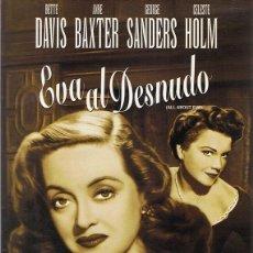 Cine: DVD EVA AL DESNUDO BETTE DAVIS . Lote 67707569