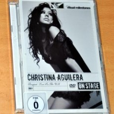 Cine: DVD VIDEO: CHRISTINA AGUILERA - STRIPPED - LIVE IN THE U.K. 2004 - SONY / VISUAL MILESTONES - 2007. Lote 67834065