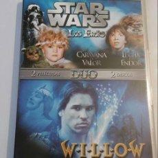 Cine: DOBLE PACK DVD STAR WARS LOS EWOKS WILLOW. Lote 68238345