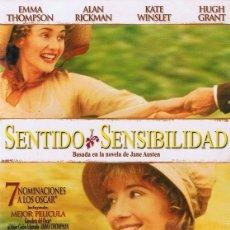Cine: DVD SENTIDO Y SENSIBILIDAD EMMA THOMPSON (PRECINTADO). Lote 69450333