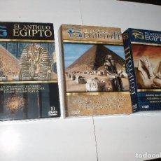 Cine: DVD DOCUMENTAL EGIPTO, II,III LOTE CON LA COLECCION COMPLETA 30 DISCOS DVDS EN TRES PACKS. Lote 70495197