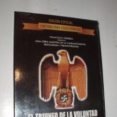 Cine: DVD EDICION COLECCIONISTA EL TRIUNFO DE LA VOLUNTAD LENI RIEFENSTAHL DOCUMENTAL NAZISMO NUEVO. Lote 70495441