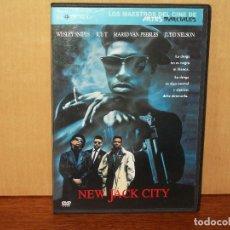 Cine: NEW JACK CITY - WESLEY SNIPES - ICE T - JUDD NELSON - DVD CAJA FINA EDICION PERIODICO. Lote 70958281