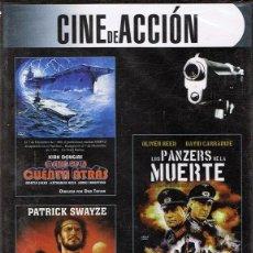 Cine: DVD CINE DE ACCIÓN 3 PELÍCULAS (PRECINTADO). Lote 71065417