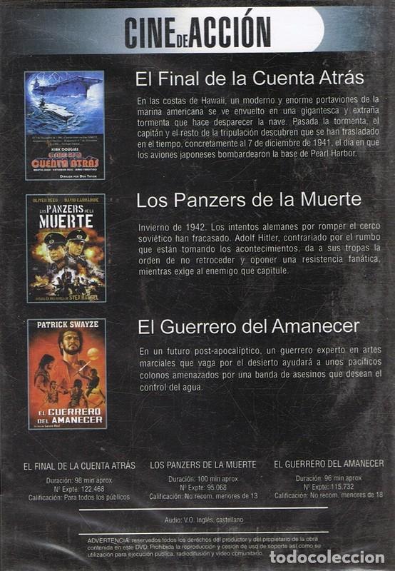Cine: DVD CINE DE ACCIÓN 3 PELÍCULAS (PRECINTADO) - Foto 2 - 71065417