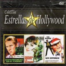 Cine: DVD COLECCIÓN ESTRELLAS DE HOLLYWOOD 3 PELÍCULAS (PRECINTADO). Lote 71067201