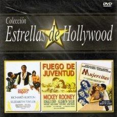 Cine: DVD COLECCIÓN ESTRELLAS DE HOLLYWOOD 3 PELÍCULAS (PRECINTADO). Lote 71067669