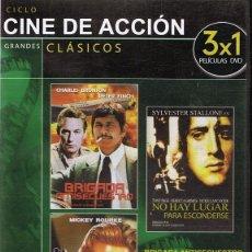 Cine: DVD CINE DE ACCIÓN 3 PELÍCULAS . Lote 71069633
