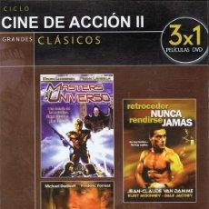 Cine: DVD CINE DE ACCIÓN II 3 PELÍCULAS . Lote 71069949
