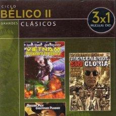Cine: DVD CINE BÉLICO II 3 PELÍCULAS . Lote 71069989
