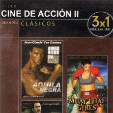 Cine: DVD CINE DE ACCIÓN II 3 PELÍCULAS. Lote 71070813