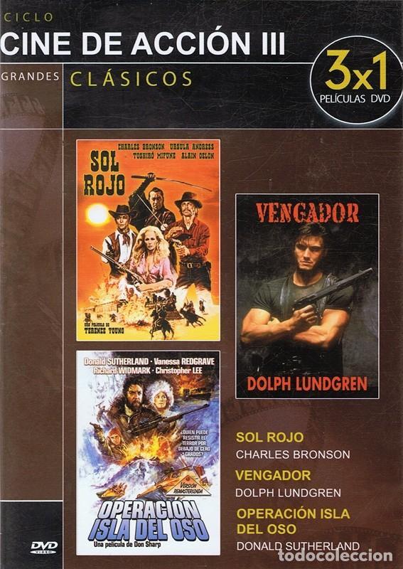 DVD CINE DE ACCIÓN III 3 PELÍCULAS (Cine - Películas - DVD)