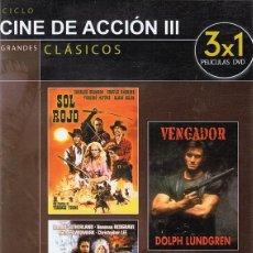 Cine: DVD CINE DE ACCIÓN III 3 PELÍCULAS. Lote 71071353