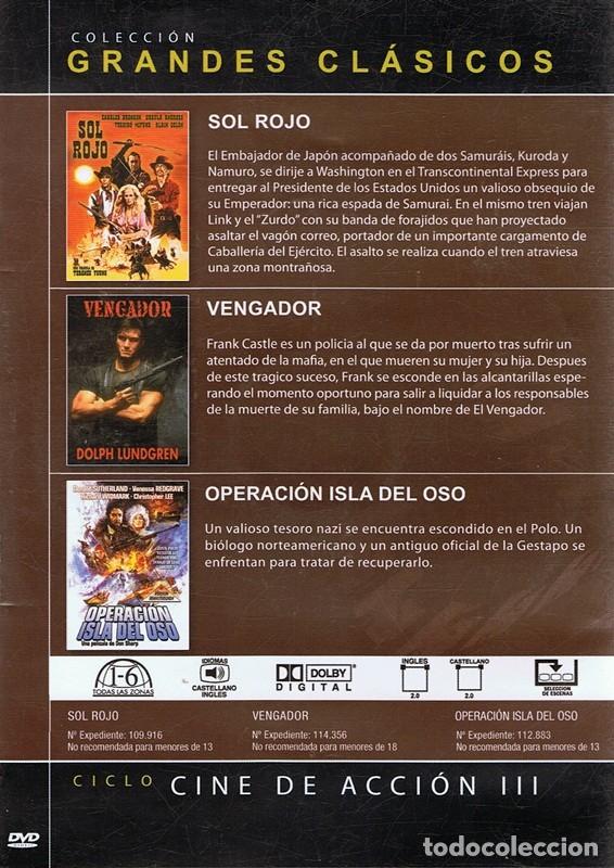 Cine: DVD CINE DE ACCIÓN III 3 PELÍCULAS - Foto 2 - 71071353