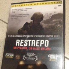 Cine: RESTREPO, UN PELOTON, UN VALLE , UN AÑO, 93 MINUTOS MAS EXTRAS. Lote 71127589