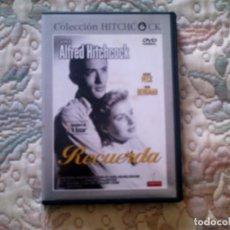 Cine: DVD RECUERDA, DE ALFRED HITCHCOCK, CON GREGORY PECK E INGRID BERGMAN (OBRA MAESTRA). Lote 71402875