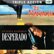 Cine: DVD EL MARIACHI,DESPERADO,EL MEXICANO (3 DISCOS). Lote 71594731