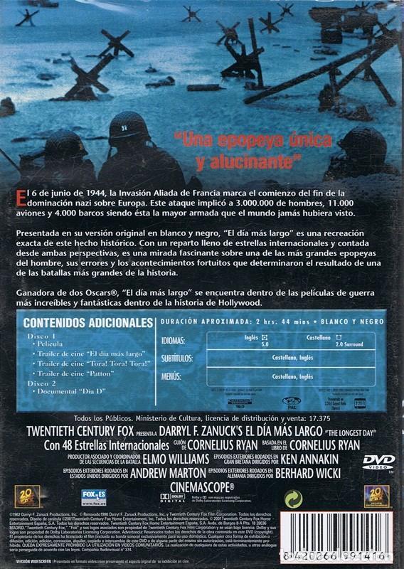 Cine: DVD EL DÍA MÁS LARGO ( EDICIÓN ESPECIAL 2 DISCOS) - Foto 2 - 72016159
