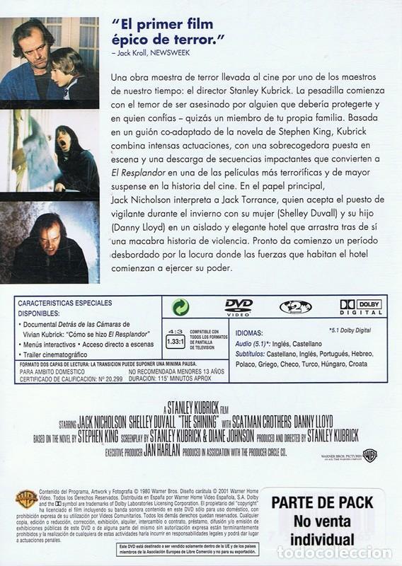 Cine: DVD EL RESPLANDOR STANLEY KUBRICK - Foto 2 - 72019427