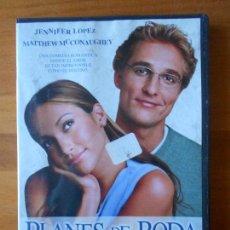 Cine: DVD PLANES DE BODA - JENNIFER LOPEZ - MATTHEW MCCONAUGHEY (N7). Lote 72187887