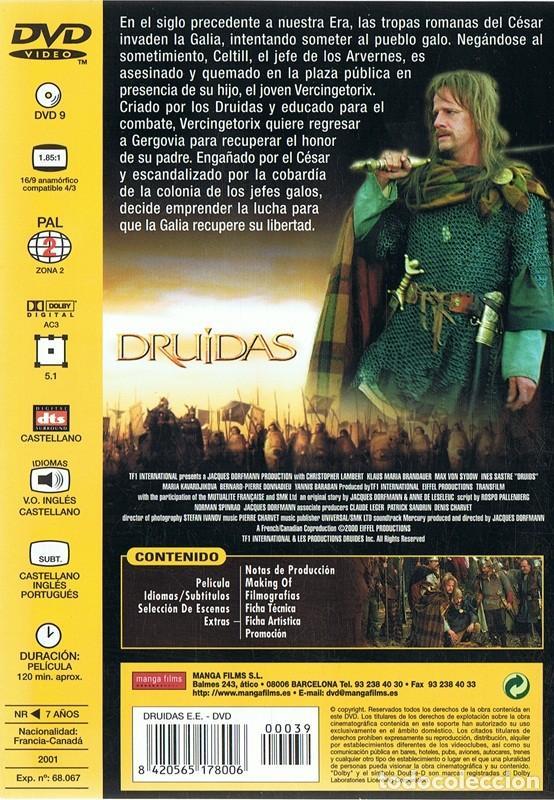 Cine: DVD DRUIDAS CHRISTOPHER LAMBERT (EDICIÓN ESPECIAL) - Foto 2 - 72356047