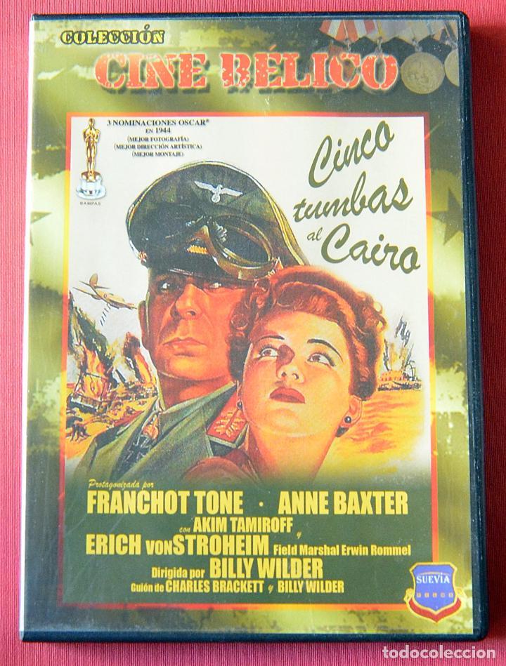 CINCO TUMBAS AL CAIRO - BILLY WILDER - ANNNE BAXTER - ERICH VON STROHEIM (Cine - Películas - DVD)