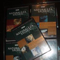 Cine: DVD DOCUMENTAL NATURALEZA SALVAJE BBC,5 DVDS ANIMALES. Lote 72905315