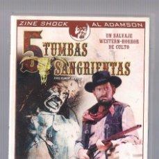 Cine: CINCO TUMBAS SANGRIENTAS (DVD 1970, DTOR: AL ADAMSON). Lote 73698743
