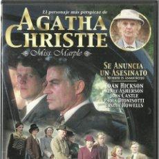 Cine: DVD CINE - SE ANUNCIA UN ASESINATO - AGATHA CHRISTIE (SERIE MISS MARPLE) - COMO NUEVO - UN SOLO USO . Lote 73700007