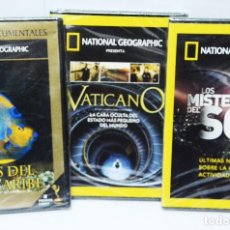 Cine: PACK 3 DOCUMENTALES DVD NATIONAL GEOGRAPHIC. Lote 74377543
