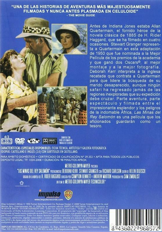 Cine: DVD LAS MINAS DEL REY SALOMÓN STEWART GRANGER - Foto 2 - 75785299