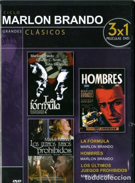 LA FÓRMULA/HOMBRES/LOS ÚLTIMOS JUEGOS PROHIBIDOS MARLON BRANDO (Cine - Películas - DVD)