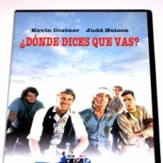Cine: DONDE DICES QUE VAS (FANDANGO) - KEVIN REYNOLDS KEVIN COSTNER JUDD NELSON DVD INENCONTRABLE. Lote 51466523