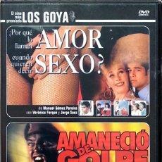 Cine: ¿POR QUÉ LO LLAMAN AMOR CUANDO QUIEREN DECIR SEXO? + AMANECIÓ DE GOLPE (2 PELÍCULAS). Lote 75909771